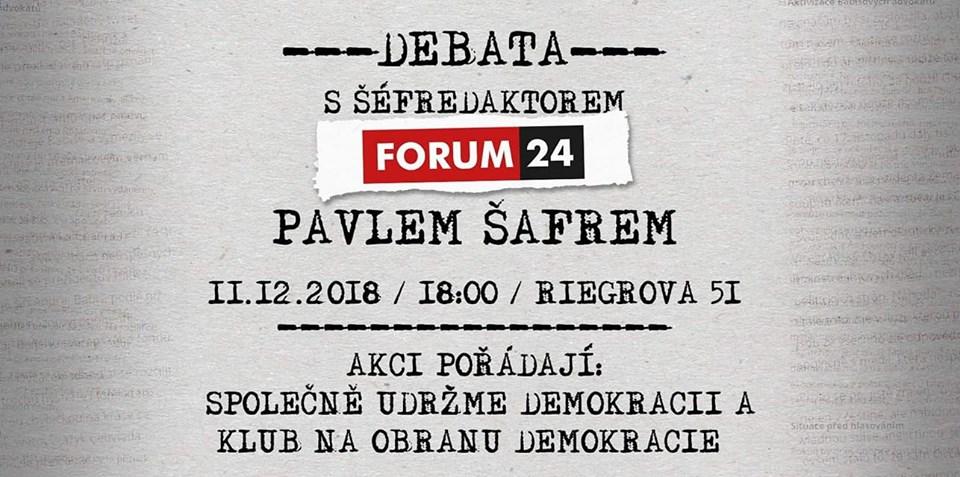 Pozvánka na debatu s Pavlem Šafrem aJohanou Hovorkovou v Českých Budějovicích